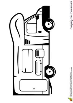 coloriage d un petit camping car pour veiller la cr ativit chez l enfant coloriages de. Black Bedroom Furniture Sets. Home Design Ideas