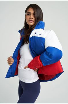 Chill Style, Stay Warm, Color Blocking, Weave, Champion, Rain Jacket, Europe, Coats