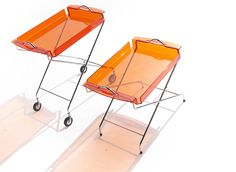 Cool acrylic serving carts. Poolside in Palm Springs at my mid-century Bauhaus home.....in my dreams