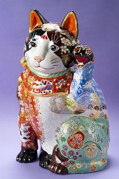 九谷ヌーボー招き猫 松本浩子作品