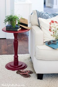 Red Accent Table and