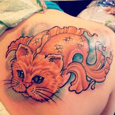 Catfish tattoo done by @Cassie Dillinger from Studio 42 tattoos