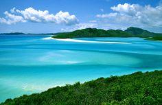 The Whitsunday Islands in Australia,