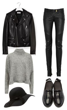 """""""Untitled #27"""" by juanitaruiz777 on Polyvore featuring Yves Saint Laurent, Balmain, Dr. Martens and Designers Remix"""