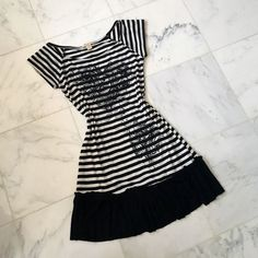 Nwot Black And White Shift Dress