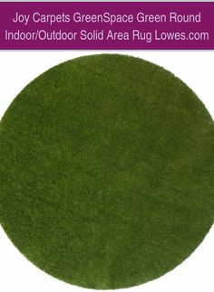 Joy Carpets GreenSpace Green Round Indoor/Outdoor Solid Area Rug Lowes.com | Outdoor Putting Green Carpet | Diy Golf Course | Diy Putting Green Backyard How To Build | Backyard Putting Green Ideas. At Last! An Easy To Install, Realistic, Low Maintenance & Affordable Backyard Golf Green For Any Serious Golfer #golfaddict #syntheticturf #golfswingsequence #Products Outdoor Putting Green, Golf Green, Green Ideas, Green Carpet, Diy Carpet, Lowes, Carpets, Something To Do, Indoor Outdoor