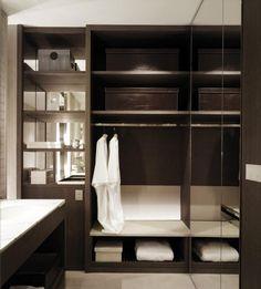 Closet design in bathroom