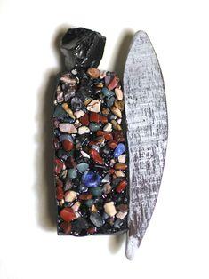 Thea Clark. Brooch: Walthauser Glacier Brooch, 2016. Resin, stones, wood, silver.