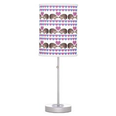 When Hedgehogs Fall in Love - Cute Table Lamp makes great wedding or engagement gift.