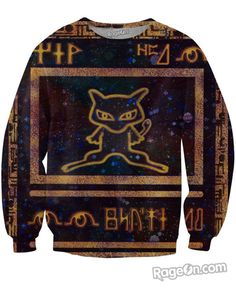 Rage On! All Over Print Black Ancient Mew Pokemon Card Sweatshirt - Rage On! - The World's Largest All-Over Print Online Retailer
