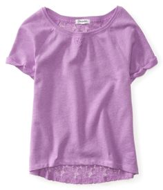 Cropped Lace-Back Fleece Tee from Aéropostale - Have it in bright pink! Love it!!<3 Summer top(;