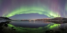 Panoramic Auroras by Frank Olsen. http://fineartamerica.com/featured/panoramic-aurora-frank-olsen.html