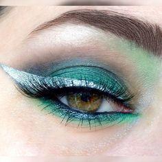 Harry Potter Slytherin Eye Makeup Inspired Look