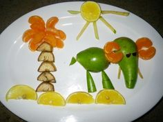 How to decorate vegetables so that children eat everything Small Cabbage, Food Humor, Funny Food, Food Decoration, Delicious Fruit, Fabulous Foods, Vegetable Dishes, Food Art, Berries