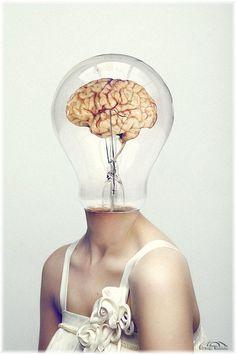 Light Bulb Brain Idea Photoshop Manipulation