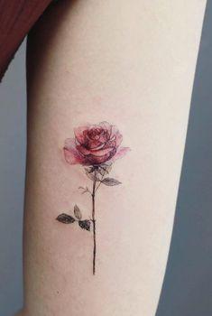 Delicate Tattoos For Women, Delicate Flower Tattoo, Flower Of Life Tattoo, Realistic Flower Tattoo, Rose Flower Tattoos, Rose Tattoos For Women, Flower Tattoo Foot, Feminine Tattoos, Delicate Tatoos