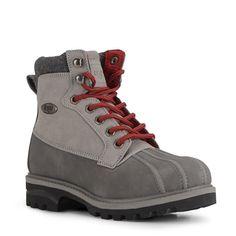 Lugz Women's Mallard Lace Up Boots (Grey/Black/Crimson)