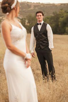 Hidden Oaks Photoshoot: By Taylor Abeel Photography Our model groom in a Slim-Fit Tuxedo, Black Satin Vest, Silk Bowtie, and White Slim-Fit Microfiber Shirt.  Website: www.taylorabeel.com; http://www.abetterdealtuxedo.com