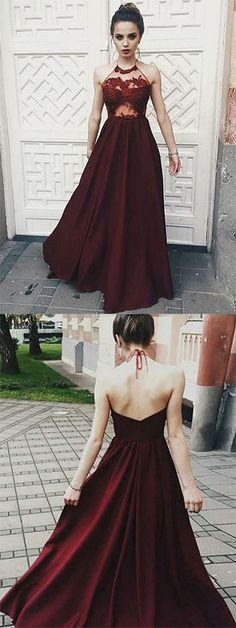 Prom Dress Princess, Chic burgundy halter prom party dresses, fashion party dresses, simple cheap evening gowns Shop ball gown prom dresses and gowns and become a princess on prom night. prom ball gowns in every size, from juniors to plus size. Prom Dresses For Teens, Prom Dresses 2018, Cheap Prom Dresses, Prom Party Dresses, Dresses Dresses, Summer Dresses, Dress Prom, Tight Dresses, Wedding Dresses