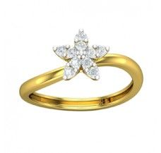 Diamond Ring 0.25 CT / 2.38 gm Gold