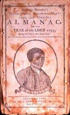 A portrait of Benjamin Banneker on the cover of his Farmers Almanac, circa 1795  - Benjamin Banneker