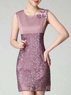 General Pink Day Dresses Above Knee Polyester Casual Round Neckline Spring Summer Floral Sleeveless S Sheath Dress M L Pencil XL XXL Dress color:Pink Sheath Dress, Dress Skirt, Lace Dress, Bodycon Dress, Day Dresses, Evening Dresses, Short Dresses, Vetement Fashion, Mein Style