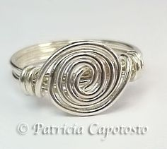 pretty wire ring with tutorial