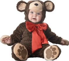 Lil Characters Unisex-baby Infant Teddy Bear Costume, Brown