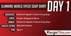 Slimming World   My Day 1 of a tailormade Slimming World Speed Food Soup Week brought to you by RecipeThis.com