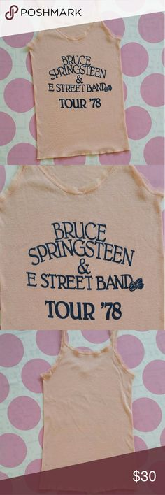 Vintage BRUCE SPRINGSTEEN Tank The Boss Himself...Bruce Springsteen & The E Street Band From Tour 1978 Tank is in excellent condition  Stretch Material  Size- No tag but best guess is a S/M Tops Tank Tops