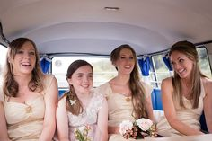A documentary photograph of bridesmaids and a flower girl talking and laughing as the travel to vintage inspired Boston wedding in Volkswagen Bus Gina Brocker Photography On Your Wedding Day, Wedding Tips, Bridesmaid Dresses, Wedding Dresses, Bridesmaids, Documentaries, Vintage Inspired, Your Hair, Wedding Photography