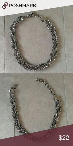 Express Necklace Braided necklace. Adjustable in length. Excellent condition. Express Jewelry Necklaces