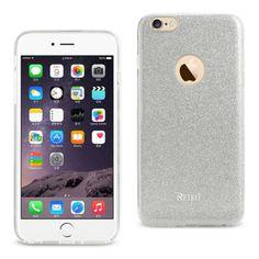 Reiko Iphone 6/6Splus 5.5 Glitter Glam Craystal Bling Tpu Case Silver