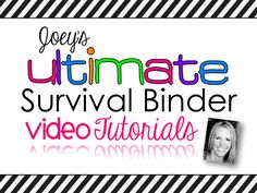 Learn how to get organized like never before...come watch my Ultimate Teaching Binder videos! :)