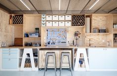 Absolut Creative Space, plywood storage