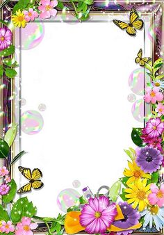 Borders And Frames Frame Border Design, Boarder Designs, Page Borders Design, Flower Boarders, Flower Frame, Framed Wallpaper, Flower Wallpaper, School Border, Boarders And Frames