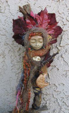 Forest Goddess Athena Owl Moon Totem Medicine Spirit by awesomeart