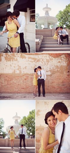 Hello vintage dress - I love you and this precious engagement shoot!