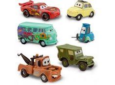 CARS -  sada 6-ti plastových aut