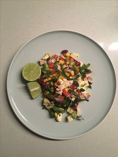 Chopped Mexican salad with chicken and a Buchu & Lime Dressing
