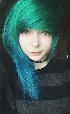 emo/scene hair