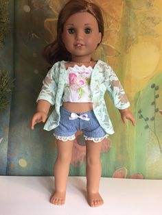 A personal favorite from my Etsy shop https://www.etsy.com/listing/546295771/american-girl-cute-3-piece-outfit