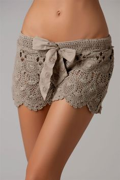 Meant for a swimsuit cover up but with nude boy shorts underneath these would be so cute for wearing out...