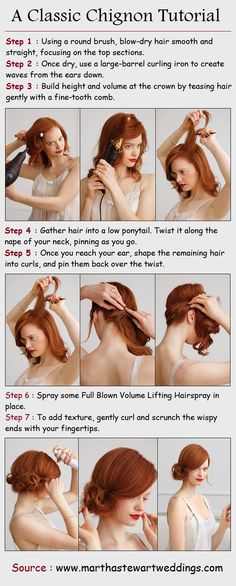 A Classic Chignon Tutorial - just pinning this for holiday parties later