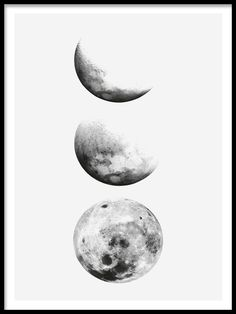 Moon phase, julisteet ryhmässä Julisteet ja painokuvat / Mustavalkoiset @ Desenio AB (8191)