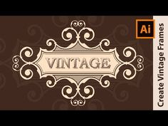 How to make a Vintage Logo Design - Adobe Illustrator Tutorial - YouTube