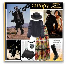 """""""Zorro"""" by pumsiks ❤ liked on Polyvore featuring Durango, FUZZI, Masquerade, Chelsea Flower, NOVICA, Polo Ralph Lauren and contest"""