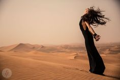 Dark Desert editorial shot for Zink Magazine in Dubai by Lindsay Adler