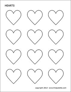 another heart template Heart Shapes Template, Printable Heart Template, Valentine Template, Free Printables, Printable Hearts, Piping Templates, Cake Templates, Piping Patterns, Valentine Theme