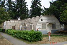 Quonset hut house.